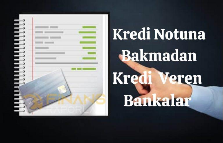 Kredi Notu Puanına Bakmadan Kredi Veren Bankalar