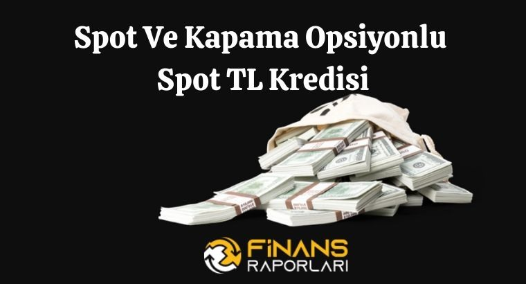 Spot Ve Kapama Opsiyonlu Spot TL Kredisi